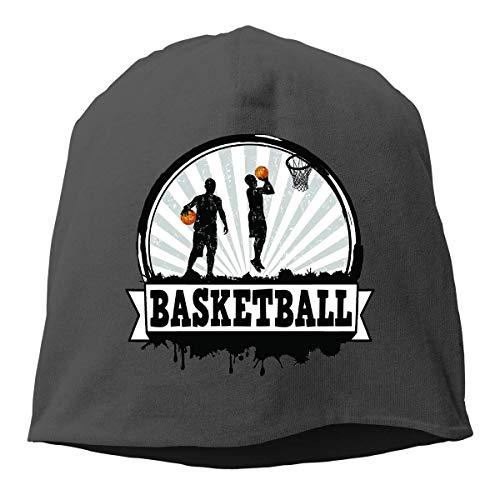 Gorros de Punto Baloncesto Gorro Slouch Beanie de Fino para Hombres Mujeres Sombrero de Invierno de Punto Gorro