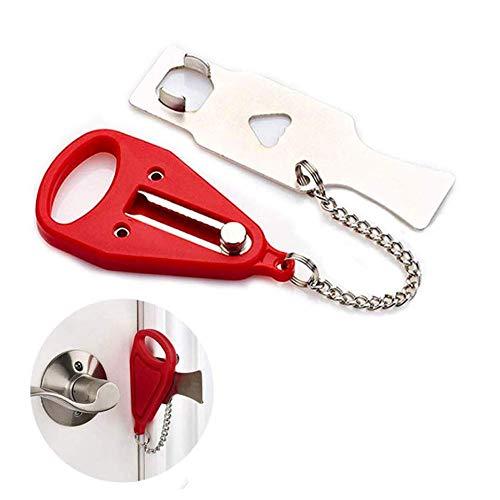 Tragbares Türschloss, Portable Doors Locks,Tragbares Türschloss Sicherheit, für Zusätzliche Sicherheit,Geeignet für Reisen, Hotels, Familien, Wohnungen, Schulsicherheit