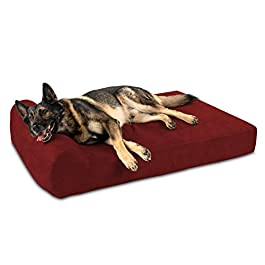 Big Barker 7″ Pillow Top Orthopedic Dog Bed for Large and Extra Large Breed Dogs (Headrest Edition)