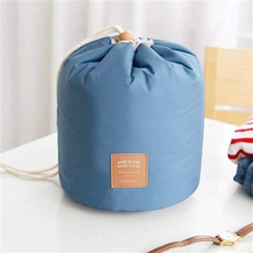 ZJXYYYzj Trousse De Maquillage, Sac cosmétique Ronde de la Mode Maquillage Sac étanche Voyage Makeup Organisateur Femme Stockage Kit Case Lady Toiletry Box (Color : Blue)