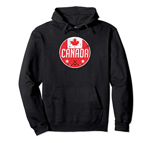 Canada Ice Hockey Flag Jersey Supporter Canadian Fan Gift Pullover Hoodie