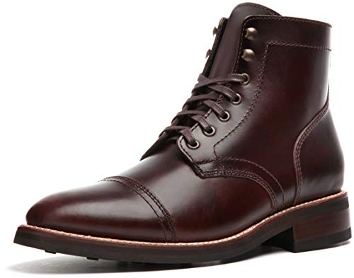 Thursday Boot Company Men's Captain Cap Toe Leather Boots, Brown, 9