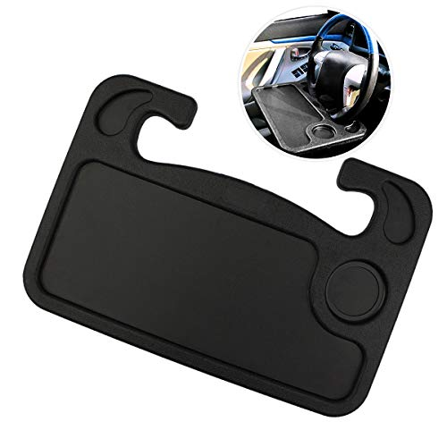laptop and food steering wheel tray