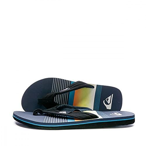 Quiksilver Molokai Layback, Zapatos de Playa y Piscina Hombre, Azul (Black/Blue/Black Xkbk), 43 EU