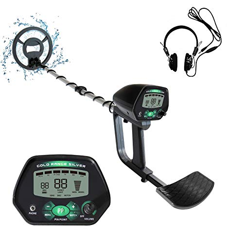 """Weanas Metal Detector for Adults, IP68 Waterproof Metal Detector with High Accuracy, All & Disc & Notch & Pinpoint Modes, Adjustable Light w/Headphones and 10""""Waterproof Search Coil"""