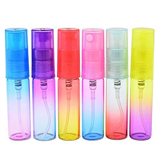 DDSP 12 unids/set 5 ml vacío botella de aerosol de vidrio atomizador mini contenedor de muestra recargable portátil de la muestra perfume botellas atomizador