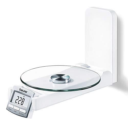 Beurer KS 52, Bilancia da Cucina Elettronica da Parete, Colore Bianco
