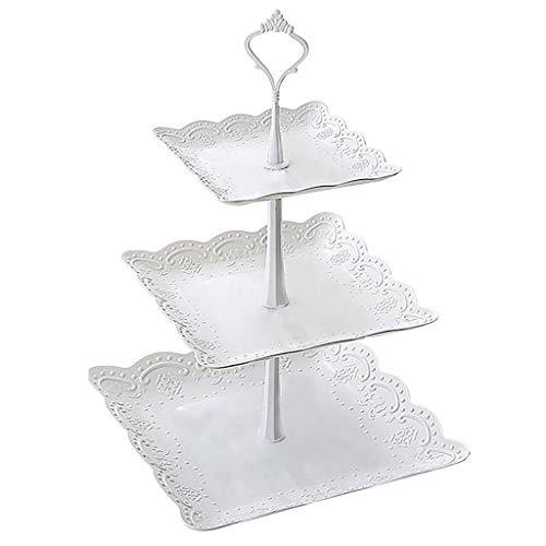 YCYG Huishoudelijke fruitplaat woonkamer salontafel gedroogd fruit meerlagige verjaardagslade plastic partij taart stand dessert tafel geschikt voor, party/dessert winkel/cake winkel (grootte: 24 * 37CM)