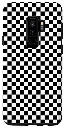 Galaxy S9+ Checkered Black Checkerboard Pattern Phone Case