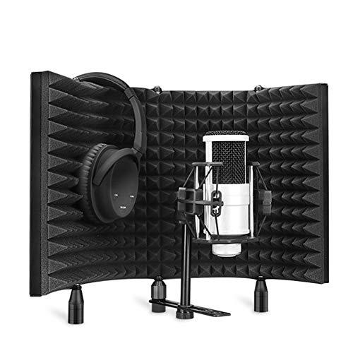Pomya Pannello microfonico, Pannello Acustico Studio Spugna in Schiuma Eva Assorbimento Acustico Microfono Trattamento Scudo Realizzato in Spugna Eva ad Alta densità