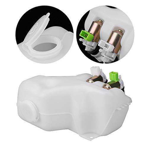 KIMISS Kit de 2-agujeros Tanque de Botella de parabrisas de agua de coche + 2 * Bombas de lavadora para 88-97