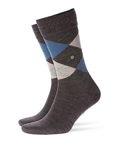 BURLINGTON Herren Socken Edinburgh - Schurwollmischung, 1 Paar, Grau (Anthracite Melange 3090), Größe: 40-46