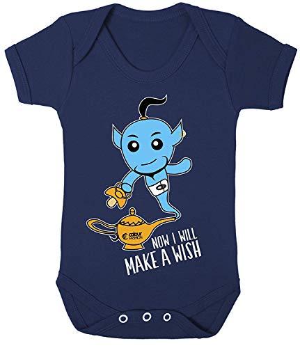 Colour Fashion Aladdin Jinn Cool Impression Bodys Bébé Costume Hypoallergénique 100% Cotton - Bleu Marine, 6-12 Months