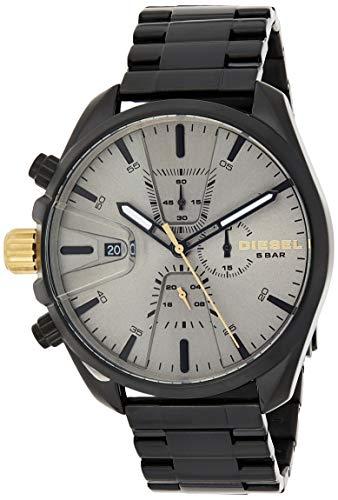 Diesel Men's Chrono DZ4474 Black Stainless-Steel Japanese Chronograph Fashion Watch
