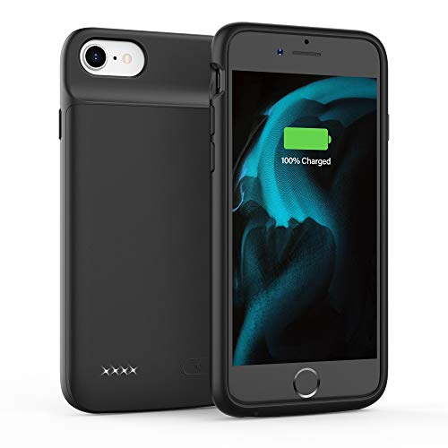 Battery Case for iPhone 6 6S 7 8 SE 2020, 3200mAh Charging Case, Protective Charger Case, Portable Extended Battery Pack (4.7-inch) (Black)