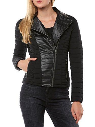 Guess Damen Yelena JACKET-W63L44W6NW0 Jacke, Schwarz (A996 Noir/Jet Black A996), L