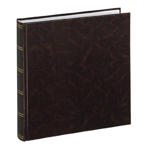 Hama Jumbo Fotoalbum Brimingham 30x30 cm (Fotobuch mit 100 weißen Seiten, Album für 400 Fotos zum Selbstgestalten und Einkleben) braun