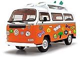 Dickie Toys Surfer Van, VW Bus con Tablas de Surf, Bully, Juguete Van, Puertas para Abrir, Pegatina para Pegar, 32 cm, a Partir de 3 años
