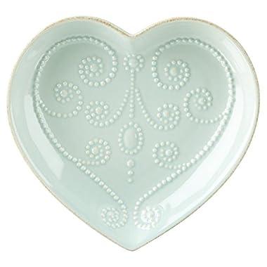 Lenox French Perle Ice Blue Heart Dish