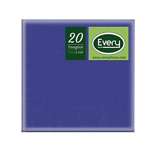 Every E243-10 Tissue Tovagliolo, Carta, Blue, 24x24 cm, 20 unità