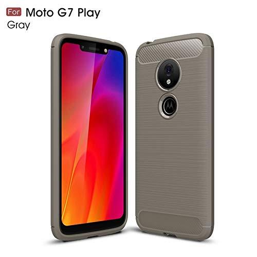 GHC Fundas y Covers para el Motorola Moto G7 Play, Estuche de Silicona cepillada Ultra Liviana con Armadura de Fibra de Carbono a Prueba de Golpes (Color : Gris): Amazon.es: Electrónica