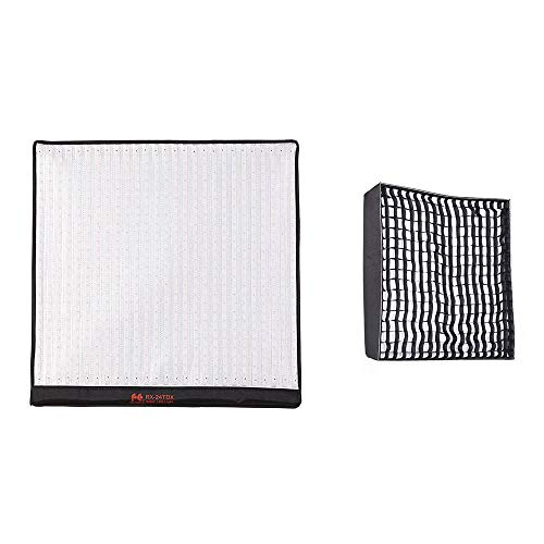 FALCONEYES RX-24TDX Light W/RX-24SBHC Soft Box 150W Bi-Color Roll-Flex Flexible LED Panel