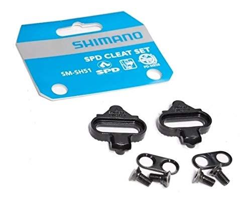 Shimano SM-SH51 - Set Placchette, Nero