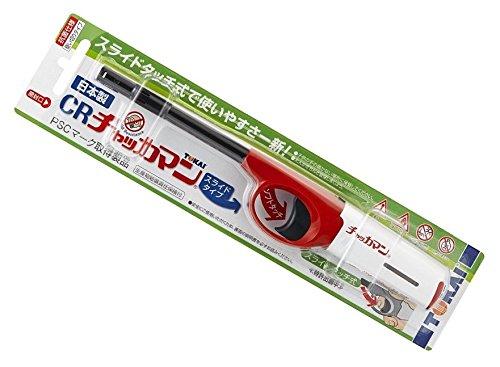 CR チャッカマン スライド 10本【使い捨て 日本製 TOKAI ガスライター ロング 長い 防災グッズ 使い切り】