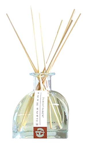 Eliana Home Difusor con Varillas de 100 ml jazmín, Aceites Esenciales aromatizados, Blanco, 6.50x6.50x16.00 cm