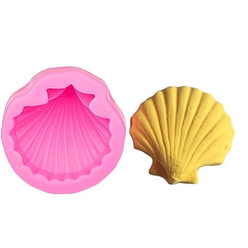 HGFJG Molde De Pastel DeSilicona 3D con Forma De Concha De Mar Famosa Grande,Utensilios para Hornear