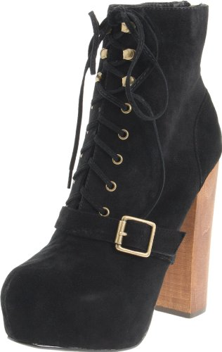 Steve Madden Women's Carnaby Boot,Black Suede,9.5 M US