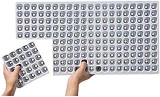 100枚 機械用 プラグトレー #4211 TKカットトレー 128穴 8cut 300×590 白黒 高さ44mm 園芸 プラスチックトレー 鉢 明和 明W 代不