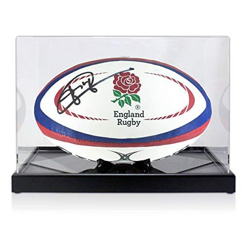 exclusivememorabilia.com Balón de Rugby de Inglaterra Firmado por Jonny Wilkinson. En Vitrina