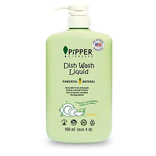 ピッパースタンダード『パワフル&ナチュラル食器用洗剤900mlポンプボトル(シトラス)』