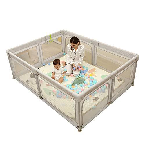Parque infantil portátil para bebés, para niños, para exteriores e interiores, valla de seguridad, para niños de 6 meses a 6 años, 150 x 180 cm