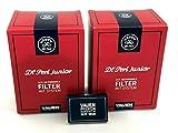 Vauen Dr. Perl, Filtri per pipa (2 confezioni da 180 pz. ciascuna), filtri da 9 mm, Junior, 360 pezzi + fiammiferi