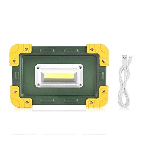 30W Luz de Trabajo LED Portátil, Luces de Emergencia LED Foco para Acampar portátil COB luz de trabajo USB recargable al aire libre impermeable al aire libre punto de inundación luces de trabaj