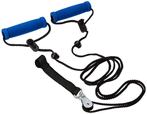 BodyHealt Overhead Shoulder Pulley - Door Exercise Equipment for Back Workout & Arm Exercise. Exercise Pulley Over The Door for Shoulder Rehab. Range of Motion Exerciser & Rehab Pulley System (Strap)