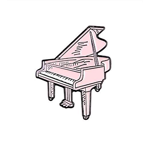 Aqiong KAERMA muziekliefhebbers email pins 80 platenspi Piano Note Old-School-muziekspeler lied metaal tas hoed badge broches pins decoratieve accessoires