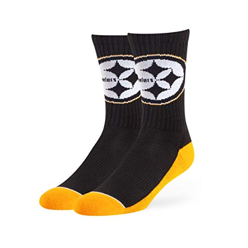 Steelers team color and logo socks