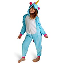 Maybear® Mono Pijama Unicornio Infantil Adulto Disfraz de Animal Cosplay Suave cálido para Disfraz Pegasus 125-135 (125)