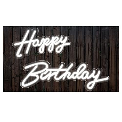 HAN XIU Echte LED Neonlicht Zeichen Kunst Wandleuchten Wanddekor Kunst Zeichen Licht Für Dekoration Geburtstagsfeier (Alles Gute Zum Geburtstag),Happy Birthday