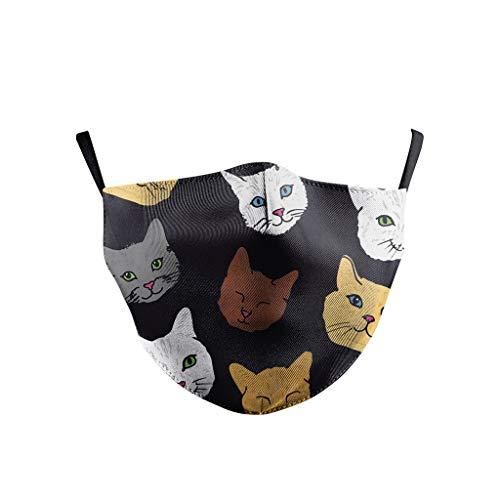 JIekyoi Facial Protección Cubrir de equitación para Adultos Impresión Digital 3D Estilo Nacional Bufanda Turbante Secado rápido, montañismo al Aire Libre
