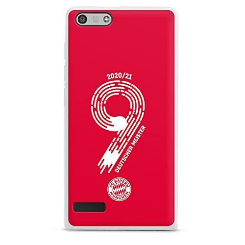 DeinDesign Silikon Hülle kompatibel mit Huawei Ascend P7 Mini Hülle weiß Handyhülle FC Bayern München Fanartikel Meister