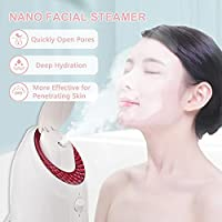 Layhou Vaporizzatore per viso, UV Vapore per il viso Nebbia calda, Umidificatore per il viso, 90ML Capacità 20min Tempo di vapore per Cura della pelle per la casa Pulizia profonda del viso Idratante #1