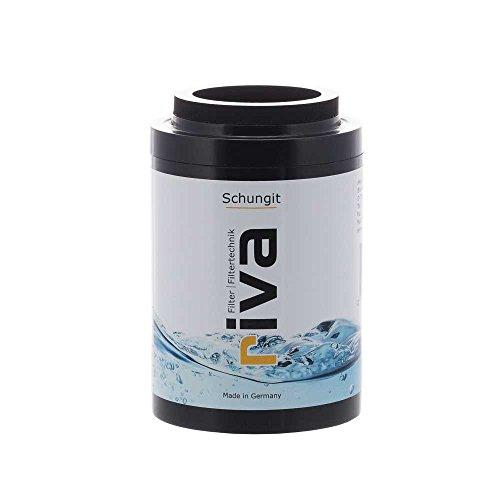 riva Filter SCHUNGIT Duschfilter Ersatzkartusche | Wasserfilter – reinigt, energetisiert. Natürlich antibakteriell für bessere Haut und Haare durch Energiestein-Filter