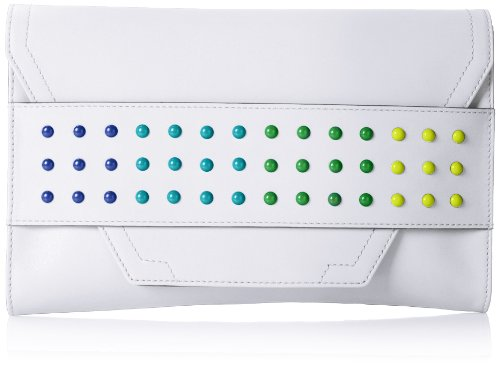 MILLY Color Digital Clutch,White,One Size