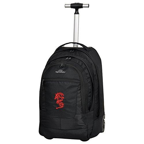 Premium Schultrolley KEANU hochwertiger XL Schulrucksack Rucksack Bordgepäck Ranzen Trolley :: Diverse Motive :: 35 Liter, Organizerfach, Laptopfach :: für Schule ReiseEinkauf