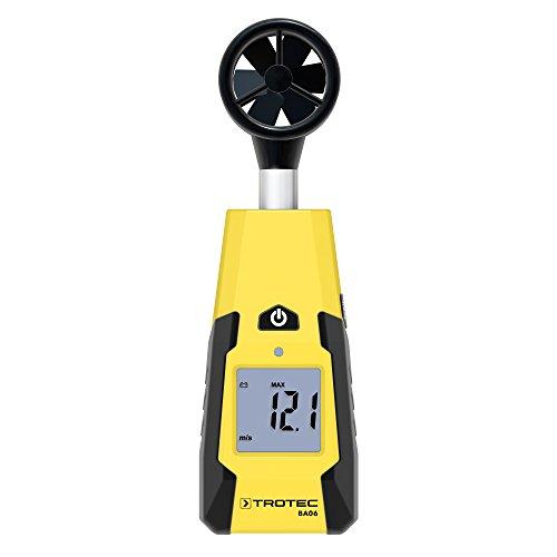 TROTEC BA06 Flügelrad-Anemometer Windgeschwindigkeiten Strömungsgeschwindigkeitsmessungen
