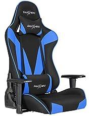 ゲーミングチェア ゲーミング座椅子 通気性抜群 オフィスチェア ゲーム用チェア パソコンチェア 多機能 360度回転 ハイバック リクライニング ヘッドレスト 腰にやさしいランバーサポート 2Dひじ掛け 布地 MF40
